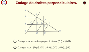 Codage perpendiculaires