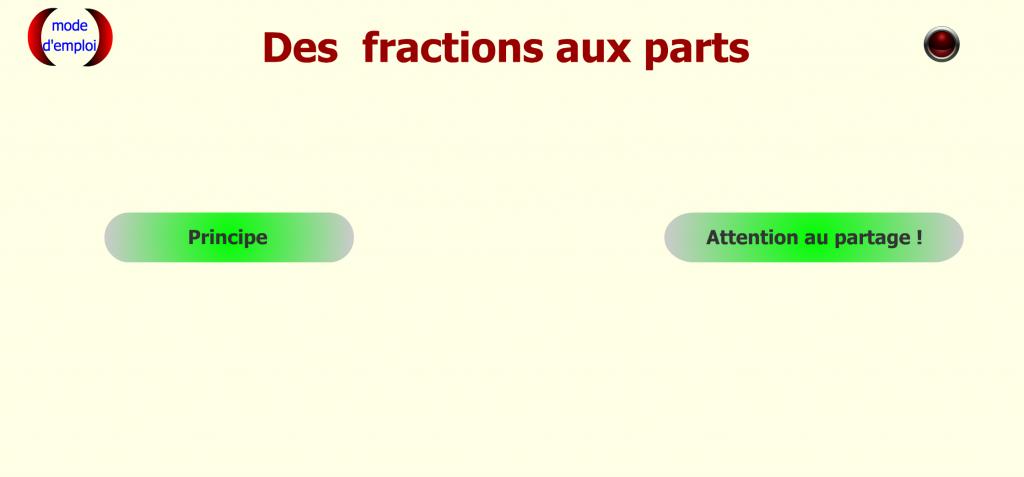 Fractions ... aux parts