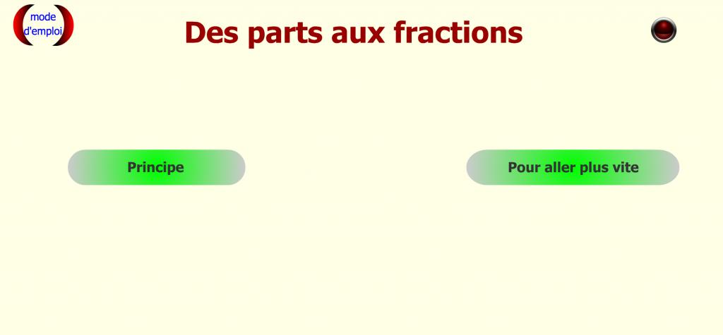 Fractions des parts..