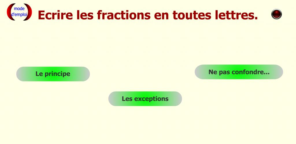 Fractions énoncer