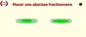 Placer une abscisse fractionnaire