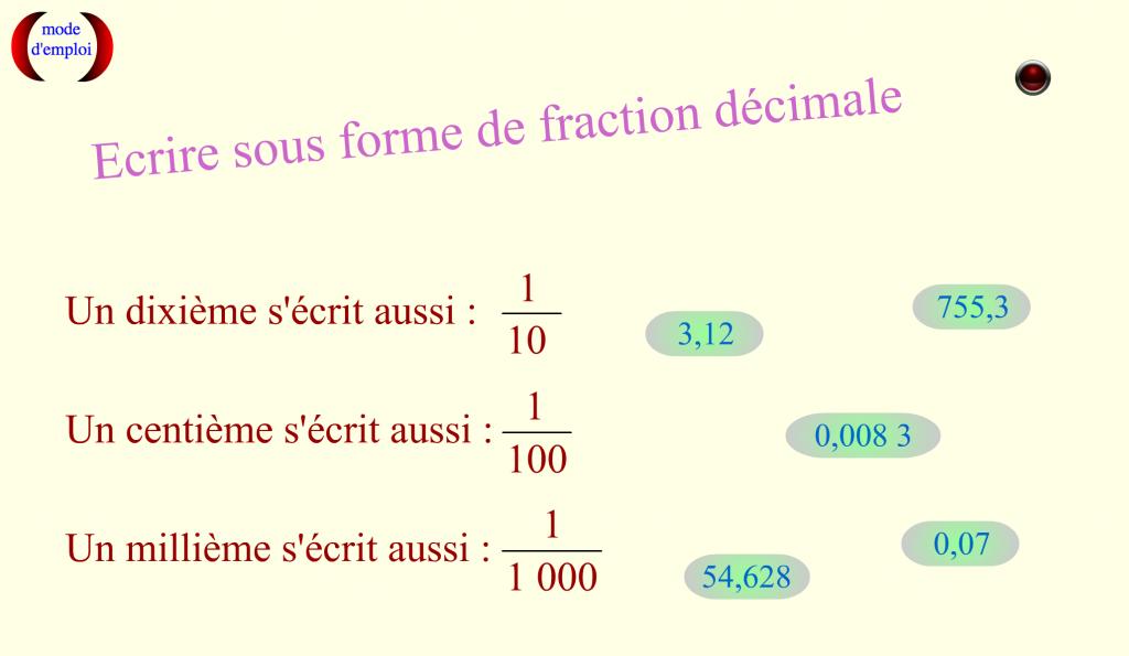 écriturefractiondecimale