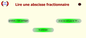 lire une abscisse fractionnaire